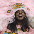 Caption: Honey Bannister - Flag Boy - <br>Creole Wild West Mardi Gras Indians, Credit: Erika Goldring