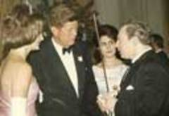 Caption: Isaac Stern with the Kennedy's