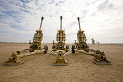 Caption: Howitzer Guns, Northern Iraq, Credit: Jake Warga