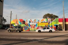 Caption: Little Haiti Mural - looking north, Credit: Mark Diamond