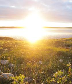 Caption: The midnight sun., Credit: Louisa Jonas