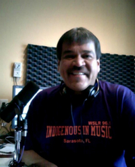 Caption: Larry K at the WSLR Studios
