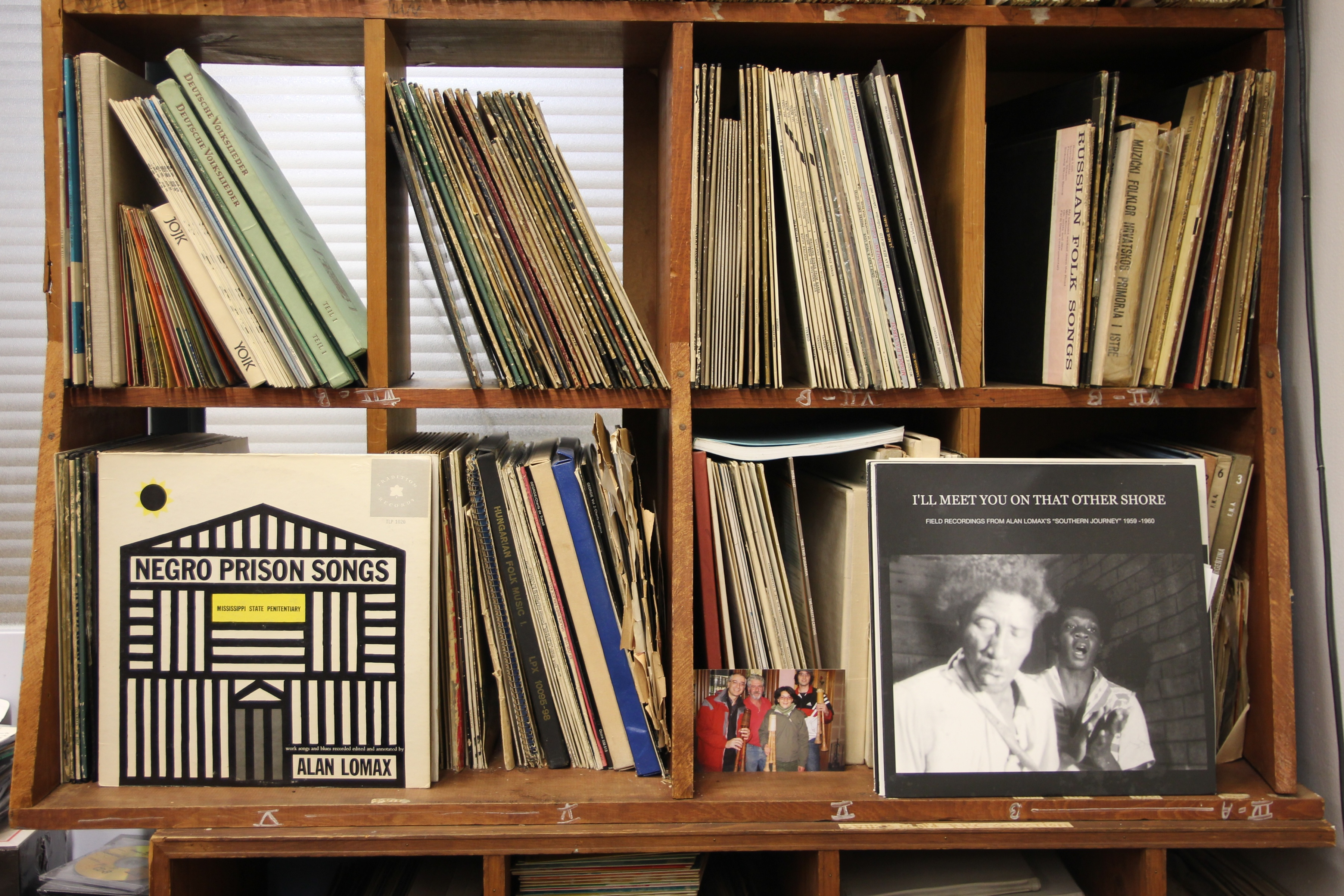 Caption: A Selection of Alan Lomax's Records, Credit: Willis Arnold