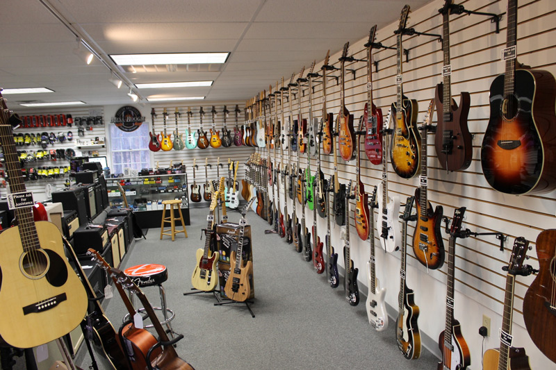 George's Music Center Guitar Showroom