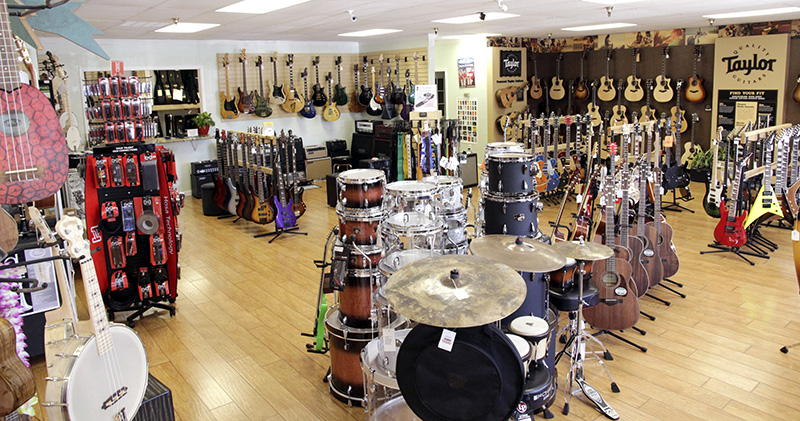 JAMS Music showroom