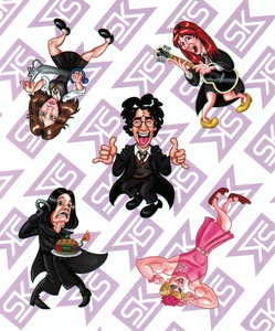 A Very Potter Sticker Sheet Featuring HP