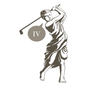 &#x27;Four! (Iv!)&#x27; Funny Roman Golfer