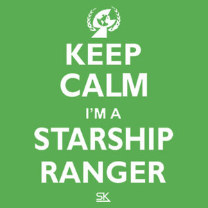 Keep Calm I'm a Starship Ranger Tee White Print