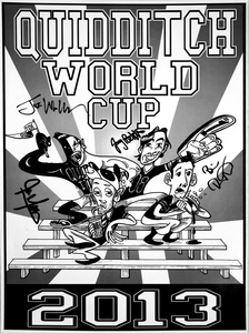 Quidditch World Cup Poster - AUTOGRAPHED