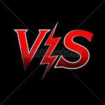 Stock vector versus letters or vs logo isolated flat style modern logotype design vector illustration 431895979
