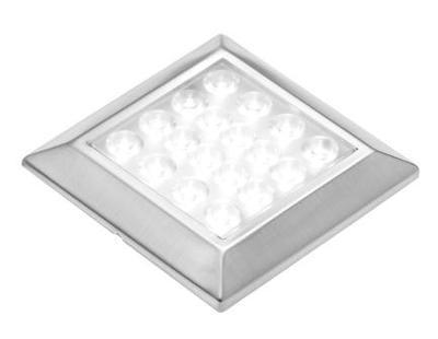 24V 2 Pack Stainless Steel Square Downlight, Warm White LED