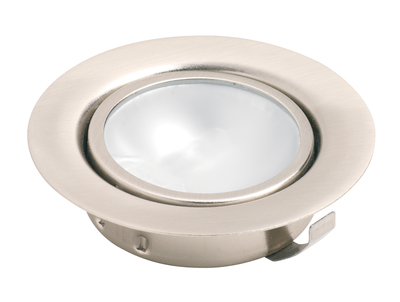 2 Pack Stainless Steel Low Voltage Recessed Cabinet Downlight