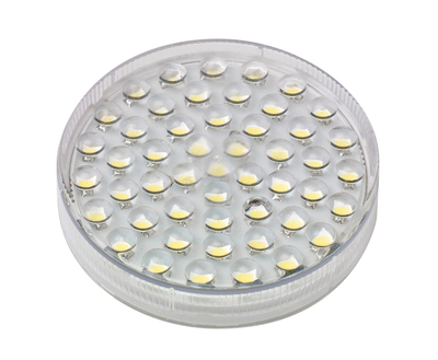 3W GX53 Circular 50 Diode LED Lamp, Cool White