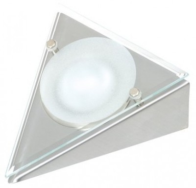 Triangular Downlight with Glass Fascia, Inc 20W G4 Lightbulb
