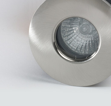 Brushed Nickle IP65 Shower & Fire Rated Downlight