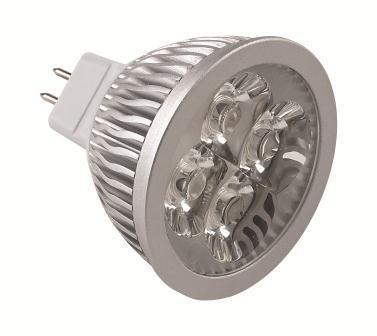 5 Pack, 6W MR16 High Power LED Bulb, Warm White