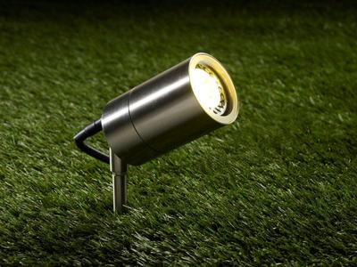 Outdoor IP65 GU10 Garden Spike Light, Stainless Steel