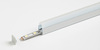 Plastic Profile for Mounting on Glass Shelves C/W 1M White LED Tape