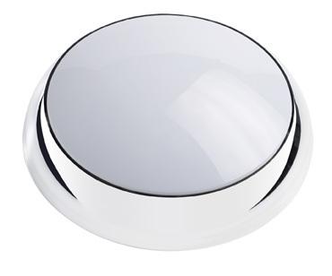 Circular Chrome Bulkhead, 28W 2D Lunar