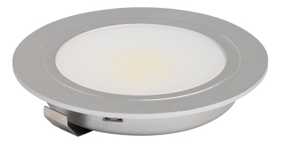 Warm White Cabinet 3W COB LED Downlight - Stainless Steel Finish