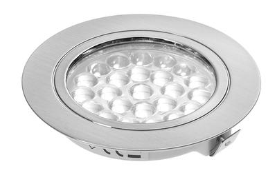 24V Recessed Downlight - Chrome Finish - 1.8W Cool White LED