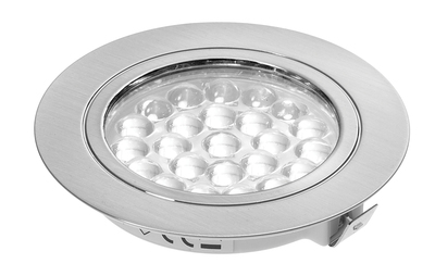 24V Recessed Downlight - Chrome Finish - 1.8W Warm White LED