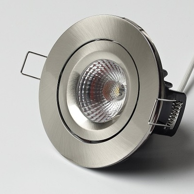 Elan Tilt in Brushed Nickel Finish - White LED