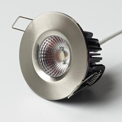 8W Elan Fixed in Brushed Nickel - Warm White LED