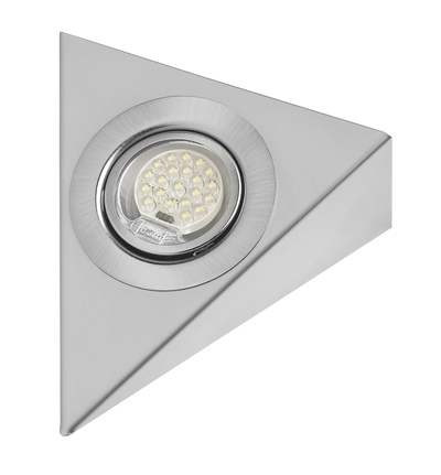 LED Triangle Downlight in Stainless Steel Finish - White LED - 1.5M cable and AMP