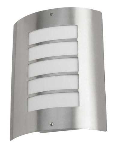 Avon Exterior IP44 Wall Light In A Stainless Steel Finish