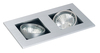 Twin Mains Voltage Square Adjustable Downlight
