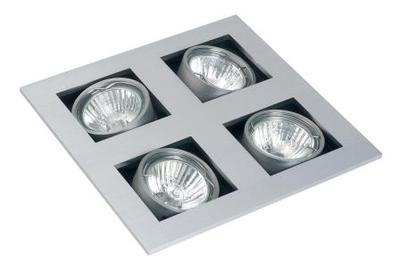 Quad Mains Voltage Square Adjustable Downlight