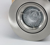 Fixed Fire Rated Downlight with a Brushed Nickle Finish