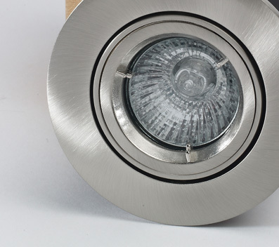 20Pk Tilt Fire Rated Downlight with a Brushed Nickel Finish
