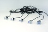 5 Pack IP65 Square Deck Lights With Blue LED