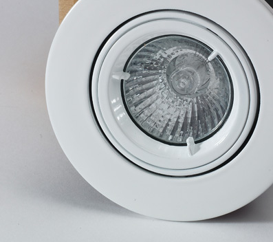 10Pk Tilt Fire Rated Downlight with a White Finish