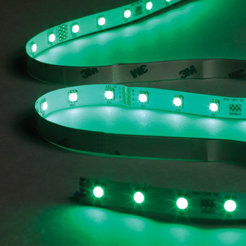 5 Metre Green LED Tape Kit, Includes Driver and Input Cable