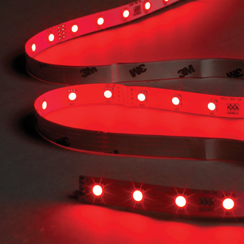 5 Metre Red LED Tape Kit, Includes Driver and Input Cable