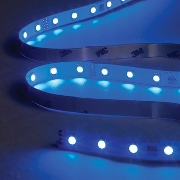 2 Metre Blue LED Tape Kit, Includes Driver and Input Cable