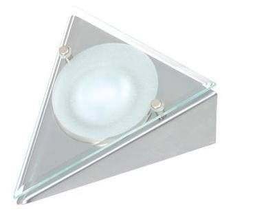 3 Pack Triangular Downlight with Glass Fascia, Inc 20W G4 bulbs