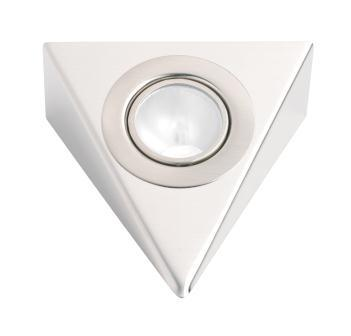 3 Pack Low Voltage Stainless Steel Triangular Downlight Incls 20W G4 Bulb