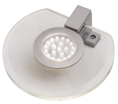 2 Pack White LED Glass Round Under Cabinet Downlight