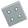 Blue LED Set of 4 Plinth Lights Incls Plug Driver