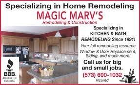 Bathroom Remodel Jefferson City Mo magic marv's remodeling & construction in jefferson city, mo