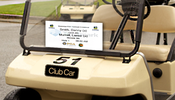 Custom cart signs