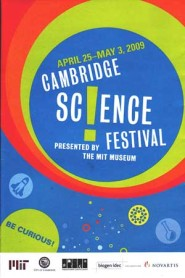 cover of brochure for the cambridge science festival from 2009