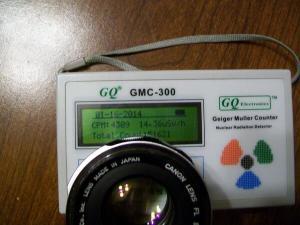 geiger counter, camera-lens
