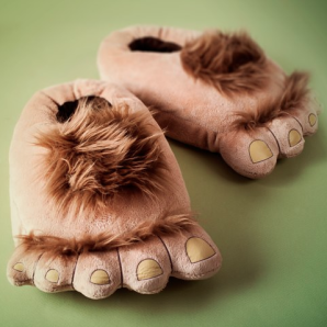 image of funky slippers - caveman design