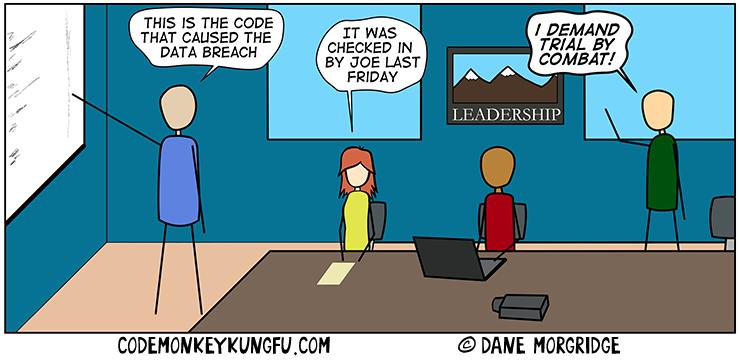 Code review blame