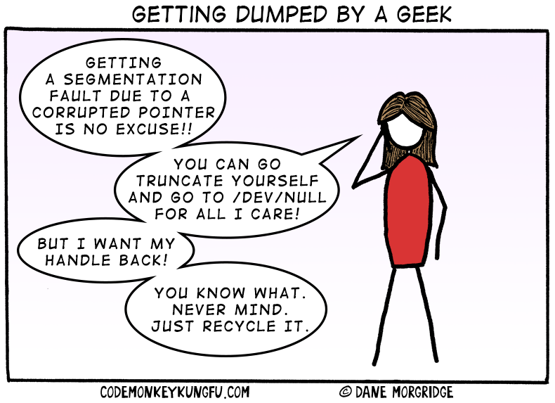 Getting dumped by a geek